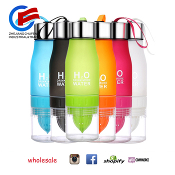 Fruit Lemon Water Bottle 650ml Multi Color H2O Water Drinking Bottle Infusion Sports Bottle No Minimum