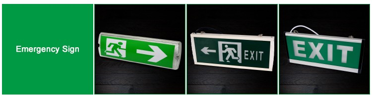 Brilliant Emergency Light / Led Fire Safety Exit Signs Emergency ...