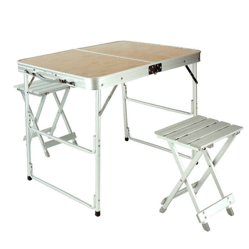 Double Suitcase Aluminum Folding Picnic Table With 2 Seats/leisure ...
