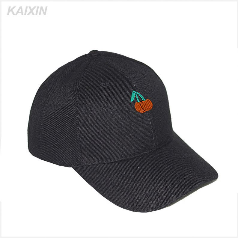 promotional plain short brim cotton baseball cap parts