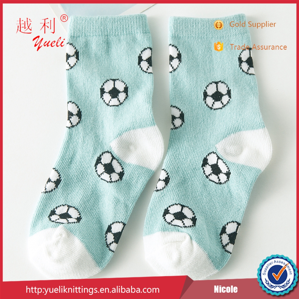 new style football knitted cartoon cute asian young boy tube socks