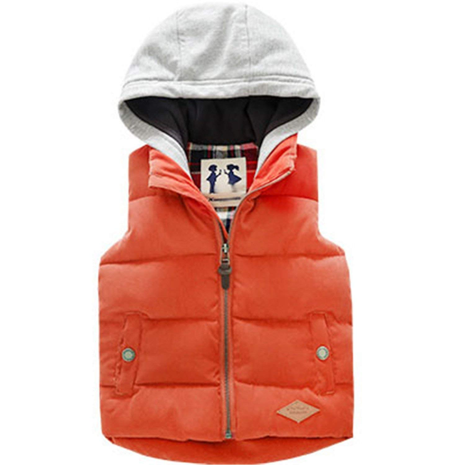 a14e995720ea Get Quotations · Mofgr Winter Sleeveless Kids Vest Boys Outerwear Warm  Children Vests Waistcoats Liner Jacket Coat for 3