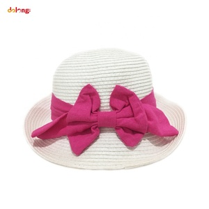 2019 women paper straw hat girls fashion straw hat with big bowknot