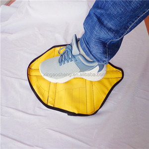 Automatic New Hottest One Step In Sock Cloth Shoe Covers Hands Free Wear In One Second Reusable Shoe Cover