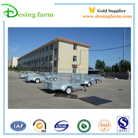 8x5 galvanized cage box trailer