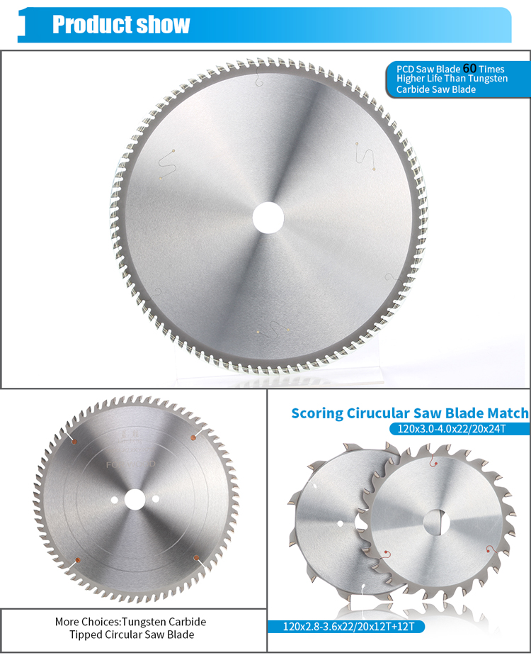 300MM 60T PCD Diamond Tips Circular Saw Blade Cutting Chipboard