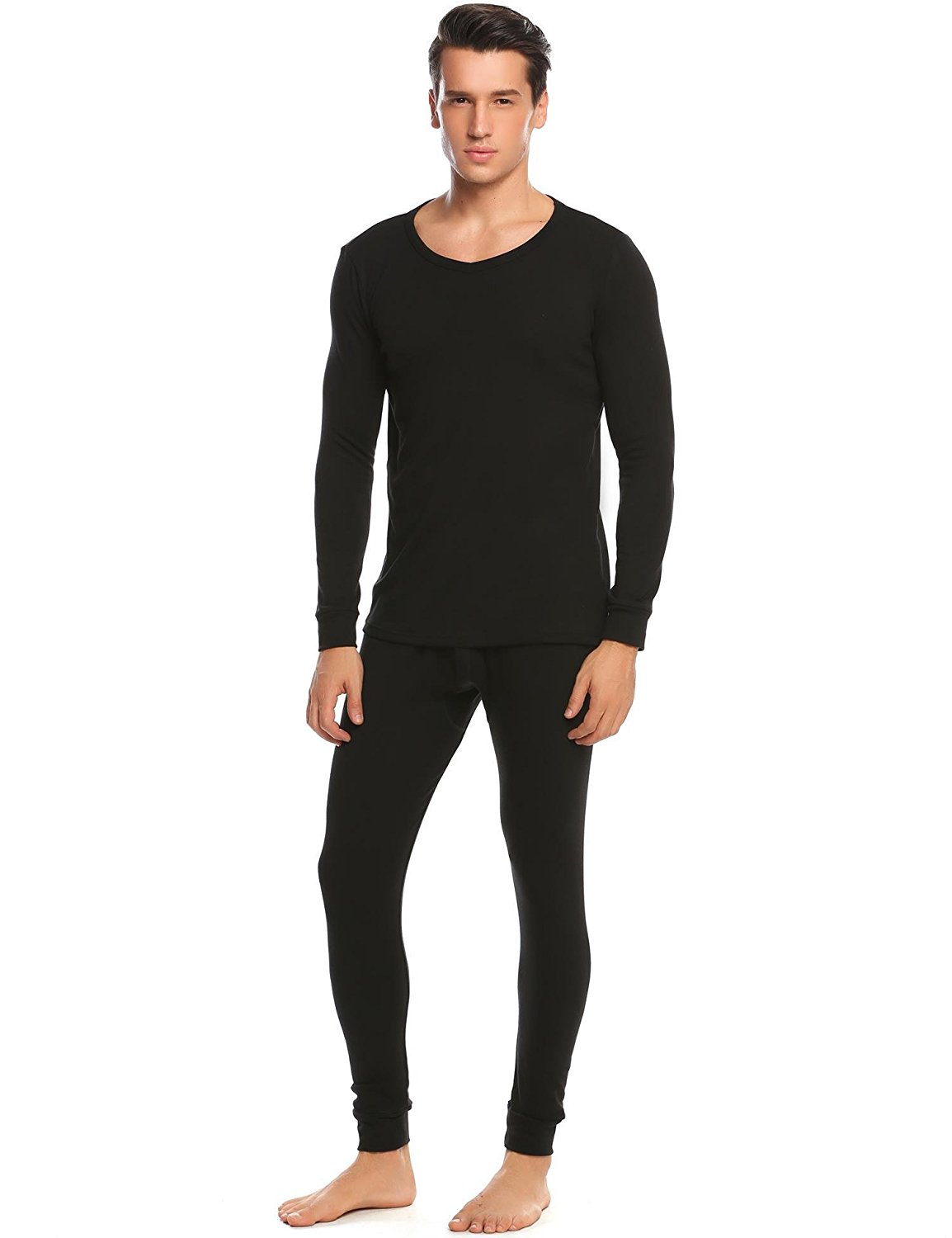 5acd61a22c08 Get Quotations · Hufcor Men s Cotton Winter Long Johns Thermal Soft Cotton  Shirt Pants 2PC Waffle Thermal Set