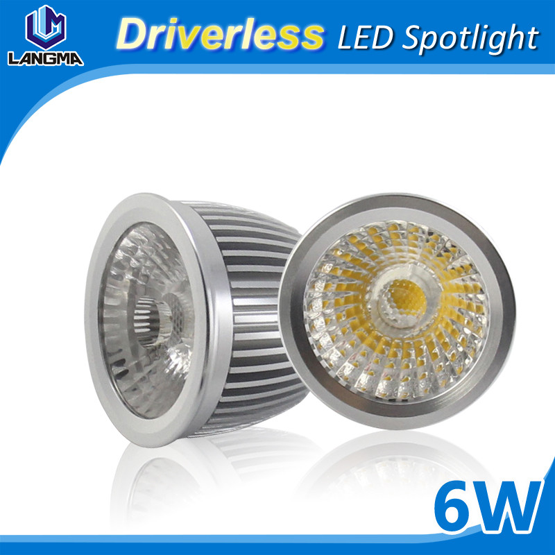 New design aluminum Led Bulb Lights Housing indoor led spot light gu10 Driverless LED spotlight LED bulb 6w gu10 with CE ROHS