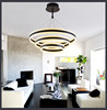 Round acrylic chandelier with artistic and practical coexistence