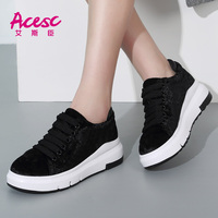 Rubber Soles Suede Leather Women Shoes 2017 Casual