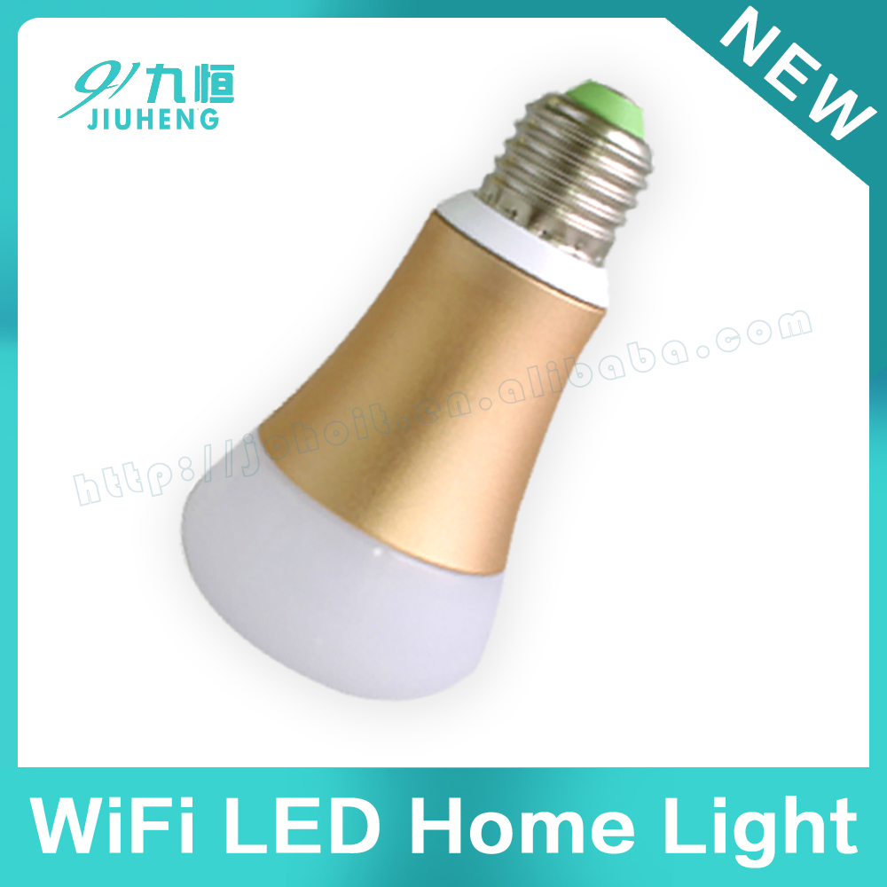Wifi Wireless E27 LED Light Bulb 2.4Ghz Dimmable Smart Lamp Mushroom + RF wireless touch remote controller
