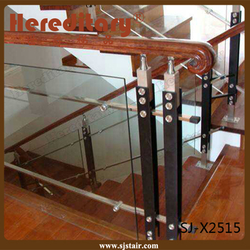 Black Color Stainless Steel And Wood Baluster(sj-x2515)