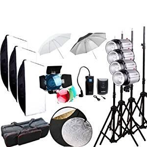 Godox Professional Photography 1000Ws Studio Flash Strobe Light Lighting Lamp Head with Trigger Softbox Kit