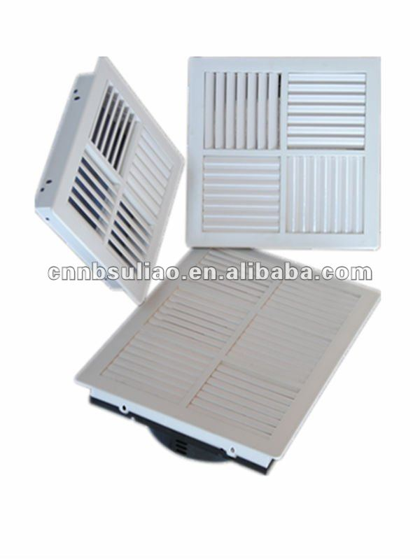 air supply vent register,plasic air register