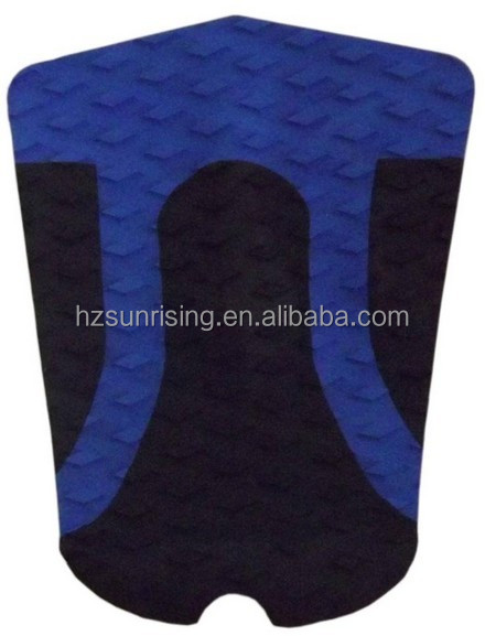 black/blue eva traction surf pad for surfboard