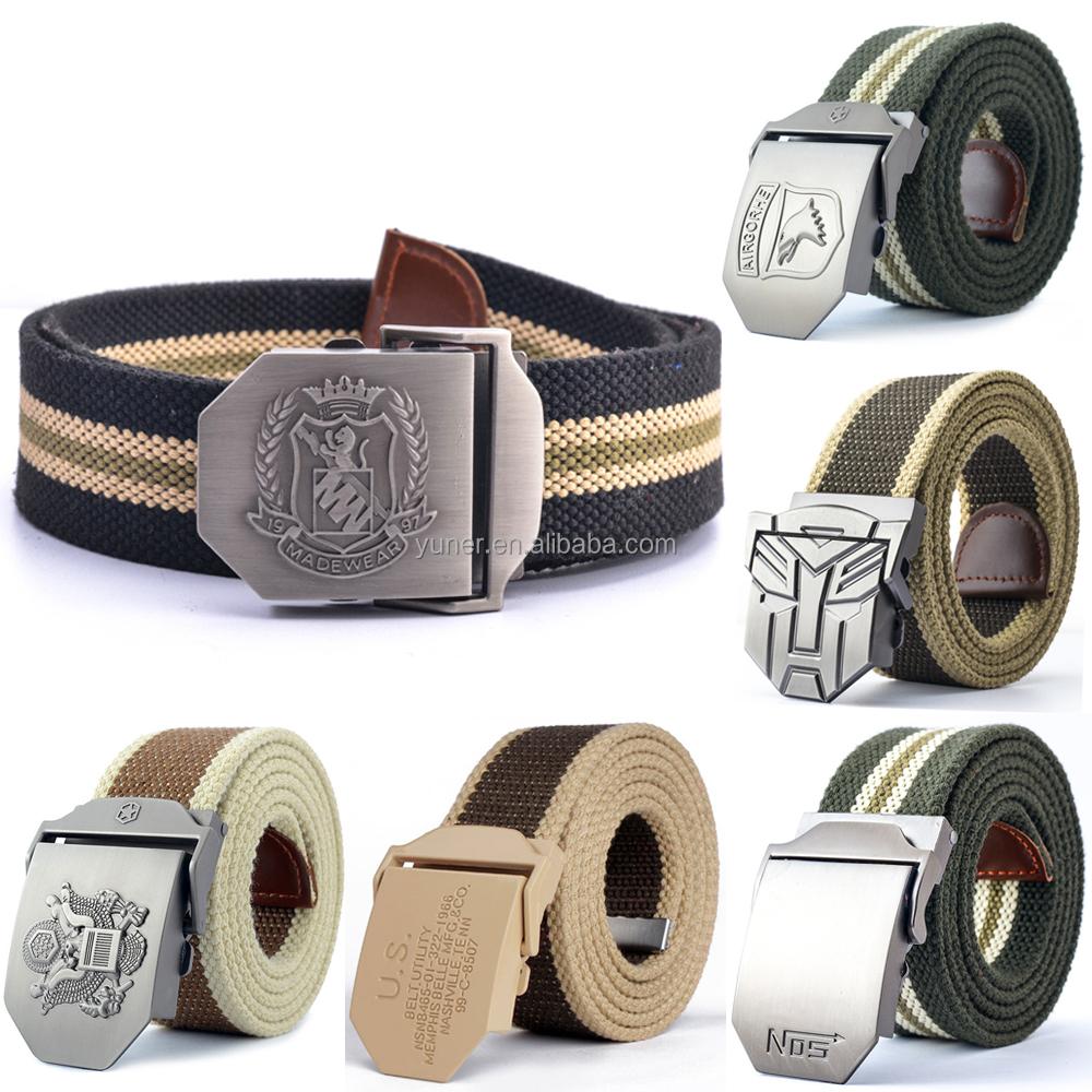 New Design Custom Cotton Belt Buckles//fan Kids Belts//police ...