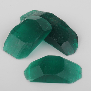 Wholesale Rough Of Created Emerald Dark Russia Rough Emeralds Price Synthetic Emerald Rough in bulks at low rate