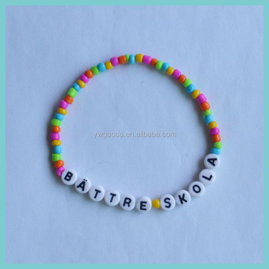 Plastic Sweden Letter Bead Bracelet - Buy Letter Bead Bracelet ...