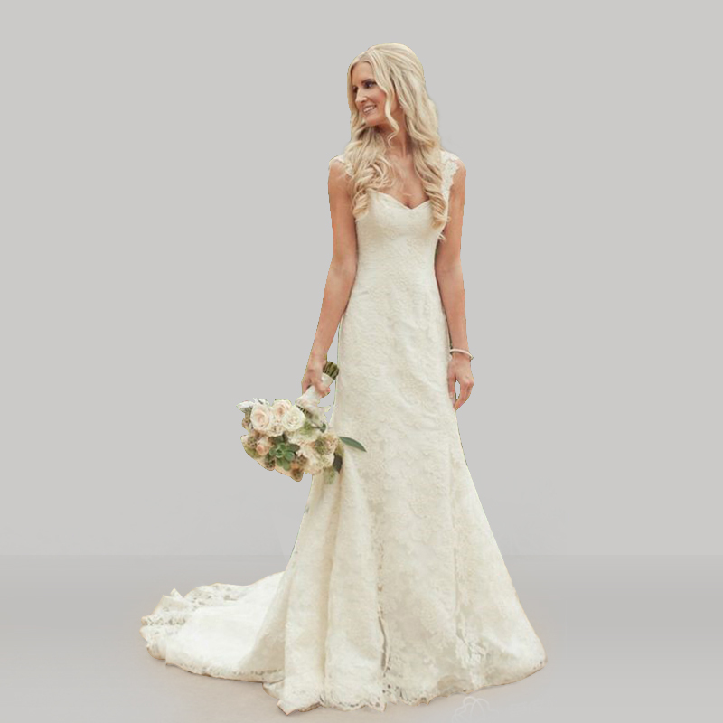 Country Style Vintage Lace Mermaid Wedding Dresses 2015