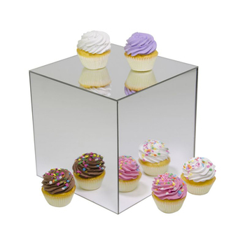 tabletop mirror acrylic display stand riser