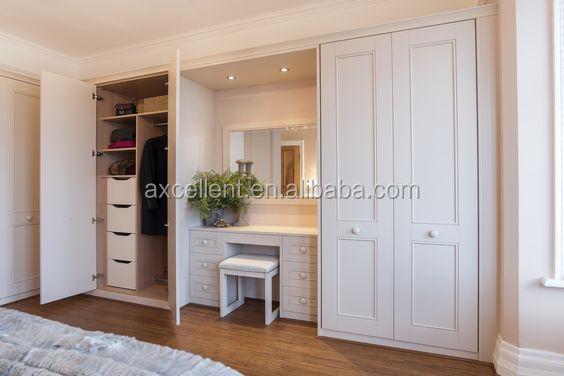 Bedroom MDF Wardrobe Dressing Table Design.