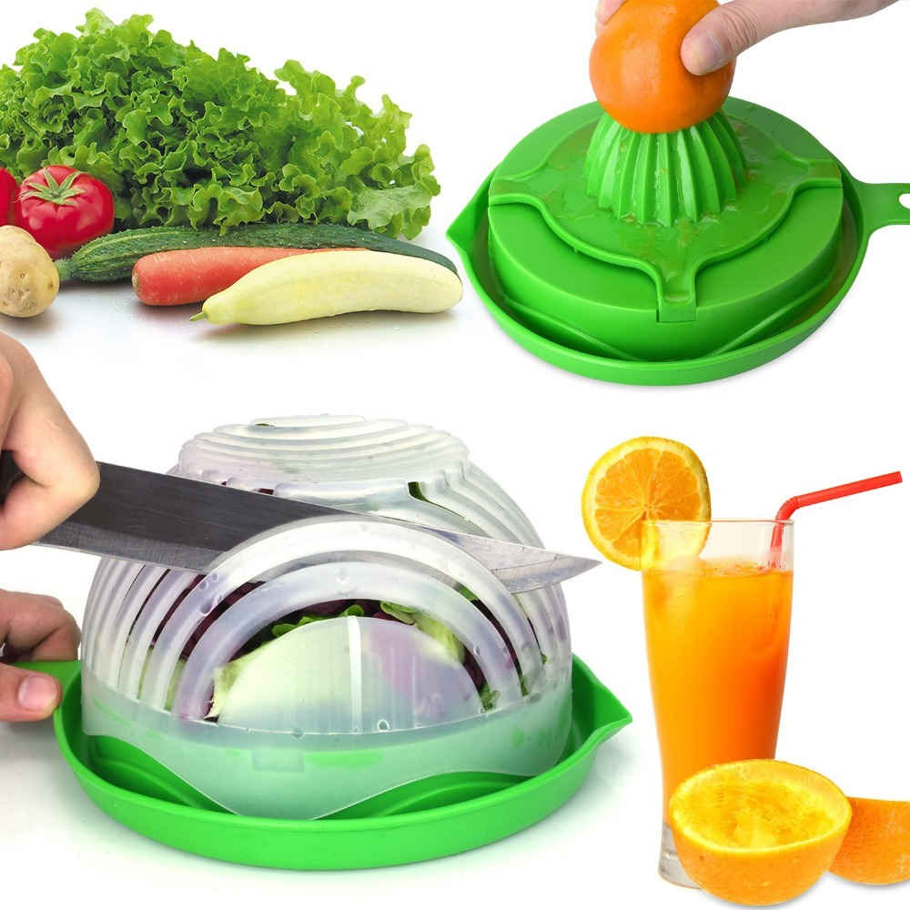 eco wholesale reusable large mixing fruit vegetable slicer chop chopper maker ps plastic salad cutter bowl with lid and fork