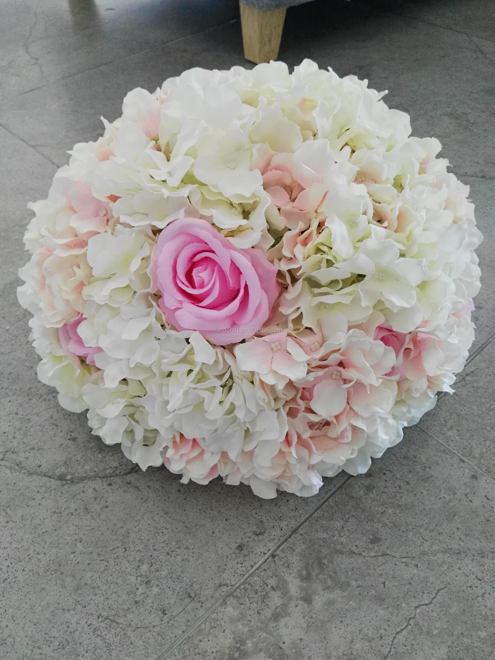 Centerpiece Flower Arrangement With White And Pink Hydrangea And Rose Buy Hanging Flower Arrangements Lighted Flower Arrangements Metal Flower Arrangements Product On Alibaba Com