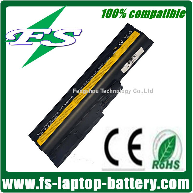 5200mAh 6 Cells Rechargeable Laptop Battery For IBM T60 R60 Z60M Z61M Z61P Series