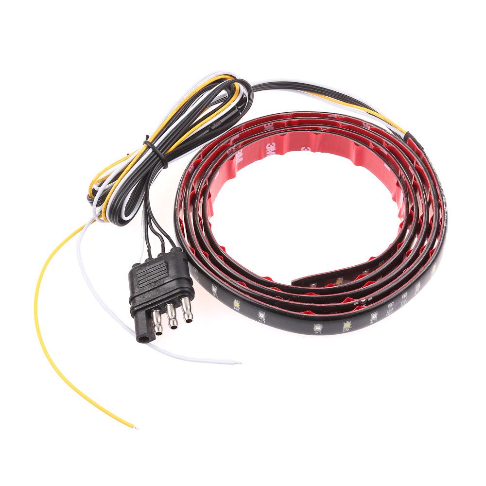 1.2 м красный белый грузовик внедорожник Offroad из светодиодов задней двери светлая полоса задние фонари заднего включите сигнальные огни стоп-сигналы резервного копирования обратный свет для джип