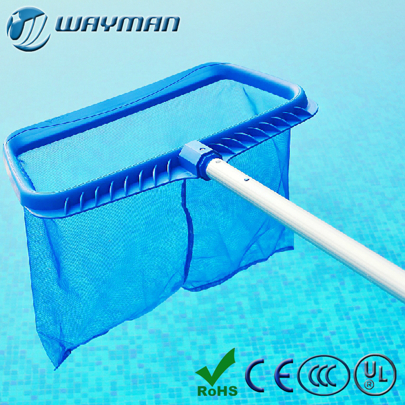 Deep Bag Swimming Pool Skimmer Heavy Duty Mesh Net with pole