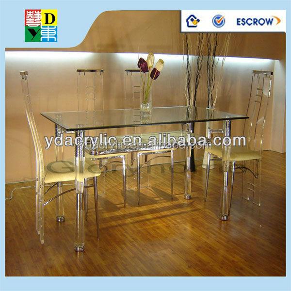 Delicieux Amaizing Personnalisé Acrylique Set De Table Avec 4 Chaises Acrylique  Transparent Table De Salle à Manger