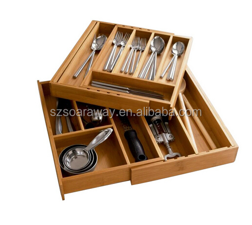 Expandable Drawer Dividers Silverware Utensils Cutlery Flatware Tray Organizer