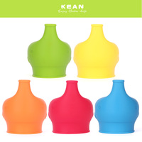 New 2019 Spill Proof Reusable BPA Free Silicone Sippy Lids For Any Cup