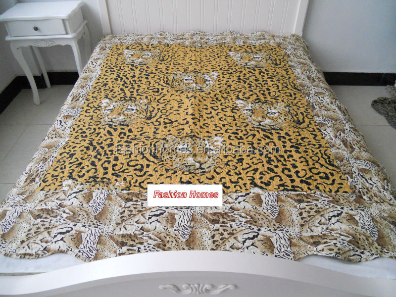 New design polyester fabric 3d bedding sets tiger print bedding