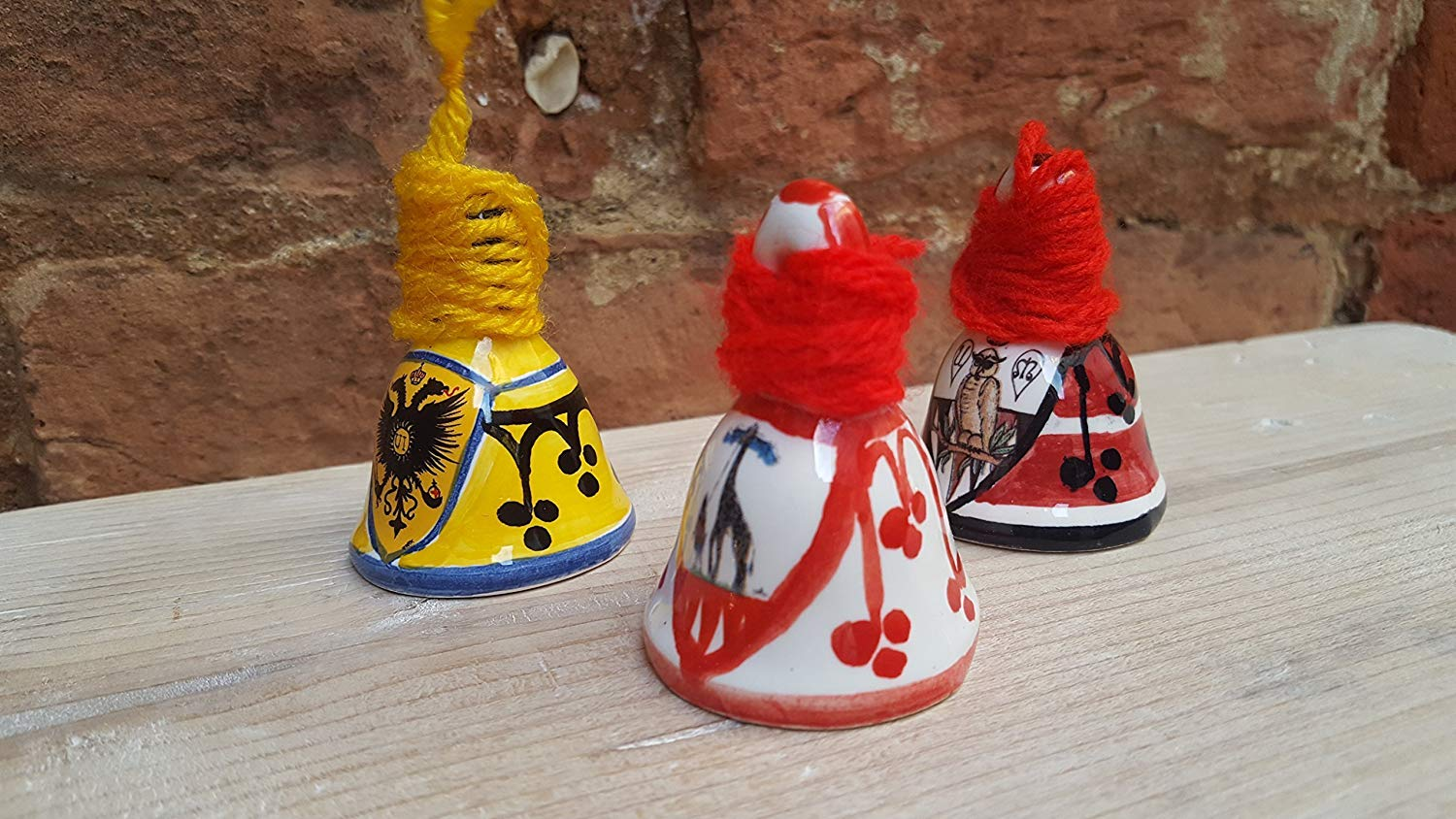 Bell of the districts of the Palio di Siena. Typical of the Sienese tradition, the feast of Saint Lucia. Size Mignon.