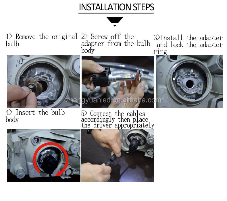 High Quality H4 H11 H15 55w Led Car Headlight Waterproof Ip68 ...
