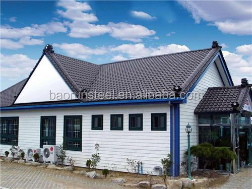 shipping standard gavanized prefabricated light steel structure houses
