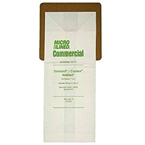 10 Castex, Nobles, Tennant Commercial Allergy Backpack, Canister, Tank Vacuum Cleaner Bags 611780, 613325, Nobles Portapac 1& 2, Nobles Strap-A-Vac II, Tennant, 3000/3050, Castex, 900005 Portapac