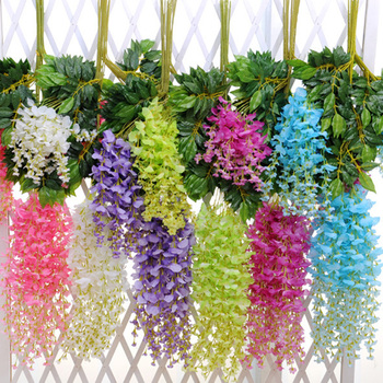 Artificial Wisteria Vine Hanging 12 Pack Silk Flowers Chain