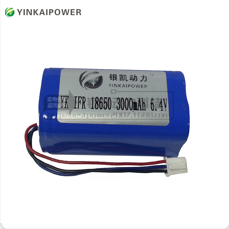 Rechargeable customized LiFePO4 battery pack 6.4V 3Ah 4.5Ah 6Ah 9Ah 12Ah 18Ah 6V 2.5Ah battery