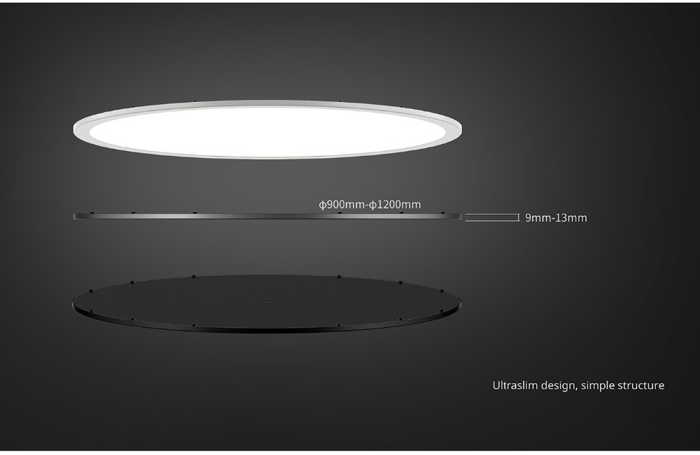 China Factory High Quality Price Of Dimmable Driver Ultra Slim Round Led Panel Light PNX49072 900mm 72W