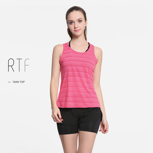 women quick-dry gym vest yoga wear running summer pink tank tops