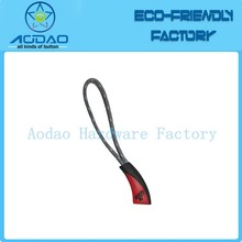 Fancy red zipper puller design with string agency wholesale