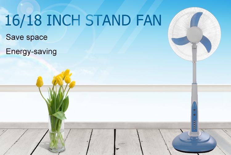 Best selling brushmotor 16 polegadas dc solar ventilador do carrinho com controle remoto com luz LED