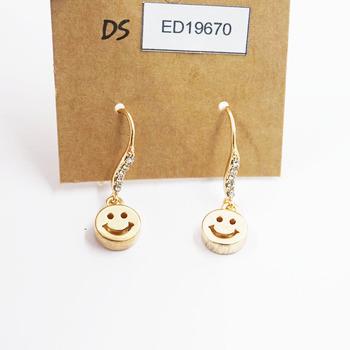 Emoji Small Gold Bali Earrings Designs For Girls Buy Emoji