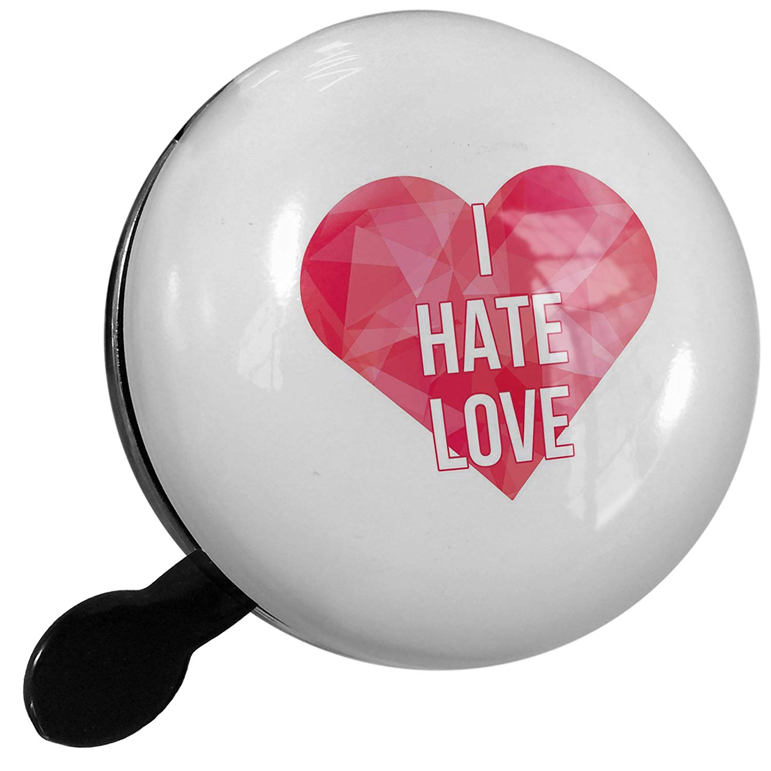 d8789476223a3 Get Quotations · Small Bike Bell I Hate Love Valentine s Day Hot Pink  Geometric Heart - NEONBLOND