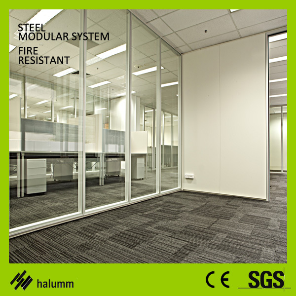 Full Height Office Dividing Wall Solid Soundproof Glass