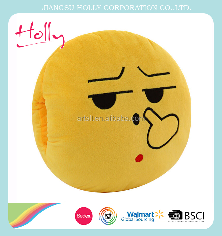 PP cotton smiling face plush emoji pillows for sale