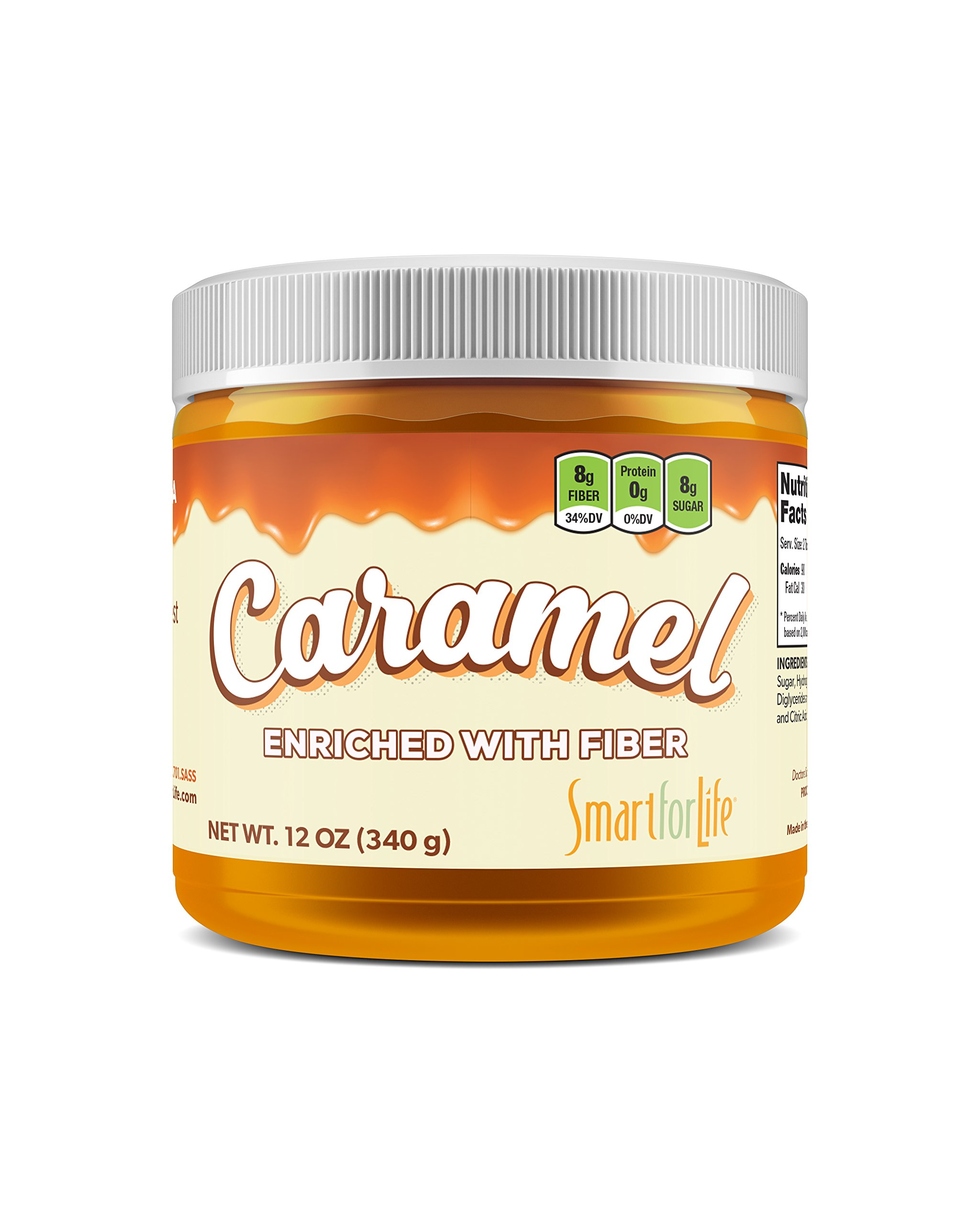 Caramel Enriched with Fiber (Pack of 2) Compare to Honest Syrup, Caramel Sauce. Sugar free, Low Carb, No preservatives. Thick and Rich. Sugar Alcohol free, Gluten Free, Dessert and Breakfast Topping.