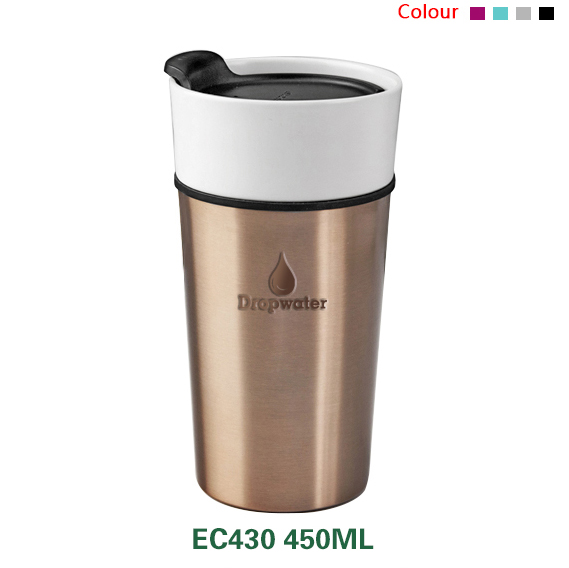 New design double wall heat insulation bulk tea tumbler mug/sublimation blank tumbler with silicone lid